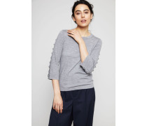 Wollpullover mit Knopf-Details Cosy Grey