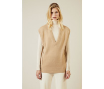 Cashmere-Woll-Pullover Braun - Cashmere