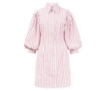 Minikleid aus Baumwolle mit Streifen Weiß/Rot