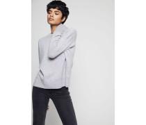 Oversized Cashmere Pullover Hellgrau - Cashmere