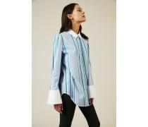 Gestreifte Baumwoll-Bluse 'Clarke' Blau/Multi - 100% Baumwolle
