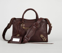 Schultertasche 'Classic Metallic City' Bordeaux