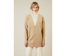Cashmere-Woll-Pullover Hellbraun - Cashmere