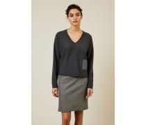 Cashmere-Woll-Pullover Taubenblau - Cashmere