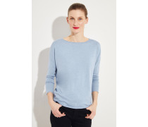 Baumwoll-Cashmere-Pullover Blau