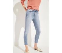 High Rise Ankle Skinny-Jeans 'Ellery' Blau