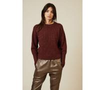 Cashmere-Seiden-Pullover mit Paillettendetails Bordeaux - Cashmere