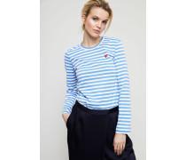 Gestreiftes Longsleeve Blau/Weiß - 100% Baumwolle
