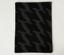 Cashmere-Schal mit Hahnentrittmuster Anthrazit - Cashmere