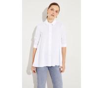 Bluse mit verkürzten Ärmel Weiß