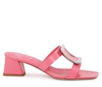 "Leder-Mule ""Bikiviv Mule 45"" Pink"