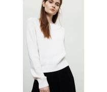 Grobgestrickter Cashmere-Pullover Weiß - Cashmere