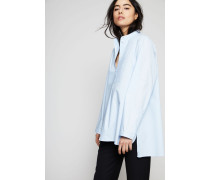 Baumwollbluse 'Lysanne' Sky Blue - 100% Baumwolle