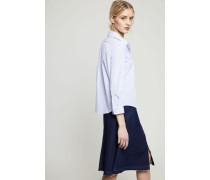 Gestreifte Baumwoll-Bluse Blau/Weiß - 100% Baumwolle