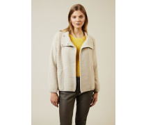 Cashmere Cardigan 'Snow' Beige - Cashmere
