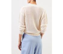Baumwoll-Cashmere-Pullover Crème