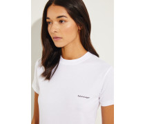 Shirt mit Logo-Schriftzug Weiß