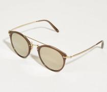 Sonnenbrille 'Remick' Gold/Braun