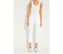 Jeans 'Parla' mit Stickerei Weiß