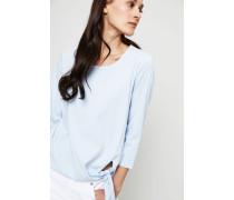 Baumwoll-Bluse mit Bindedetail Sky - 100% Baumwolle