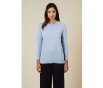 Cashmere-Pullover Hellblau - Cashmere