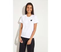 T-Shirt mit Herz-Emblem Weiß