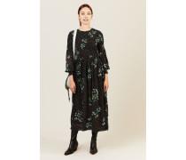Gepunktetes Kleid 'Rometty Georgette' Schwarz
