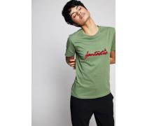 T-Shirt 'Fantastic' Grün - 100% Baumwolle