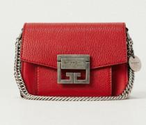 Schultertasche 'GV3 Mini' mit Silberelemente Rot - Leder