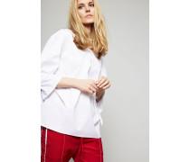 Bluse mit Binde-Details Weiß