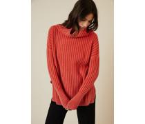 Grobgestrickter Pullover Lachs - Cashmere