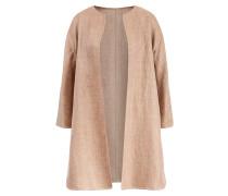 Handgefertigter Woll-Leinen-Mantel Beige / Multi