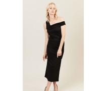 Kleid mit Raffung-Details 'New Bently' Schwarz