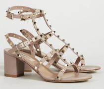 Nietenbesetzte Sandalette 'Sandal' Poudre - Leder