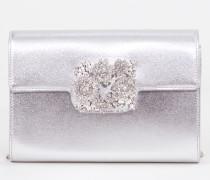 Clutch 'Bouquet Strass' Silber