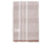 Leinen-Baumwoll-Tuch mit Lurexfäden Beige/Crème
