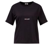 T-Shirt Crew Neck mit Logoprint Schwarz