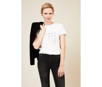 T-Shirt mit Print in Weiß - 100% Baumwolle
