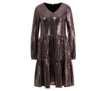 'The Funky Glam Kleid' mit Pailletten Schwarz/Rosé