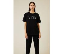 T-Shirt mit Logo-Print Schwarz/Weiß - 100% Baumwolle