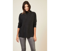 Oversize Woll-Pullover in Anthrazit