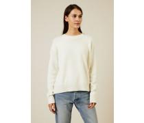 Woll-Cashmere-Pullover Écru - Cashmere