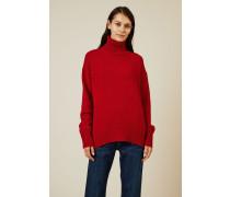 Woll-Cashmere-Rollkragenpullover Rot - Cashmere