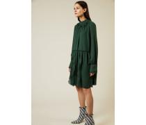 Kurzes Kleid mit Volants Grün