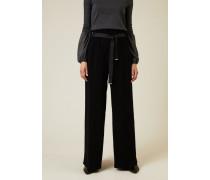 Hose mit elastischem Bund Schwarz