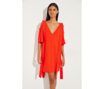 Kleid mit Cut-Outs Rot
