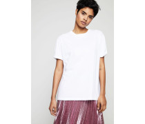 T-Shirt mit rückseitigem Aufdruck Weiß/Rosé