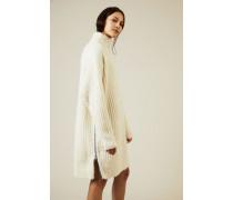 Woll-Kleid mit Reißverschlussdetails Écru - Alpaca