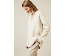 Double-Face Cashmere Pullover 'Dalma' Beige/Weiß