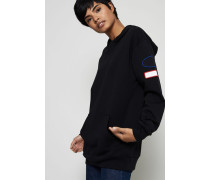 Sweater mit Kapuze 'Fog Capsule' Schwarz - 100% Baumwolle